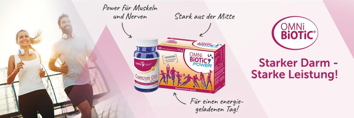 Omni-Biotic Sportpaket- Power und Coenzym. Starker Darm - Starke Leistung!
