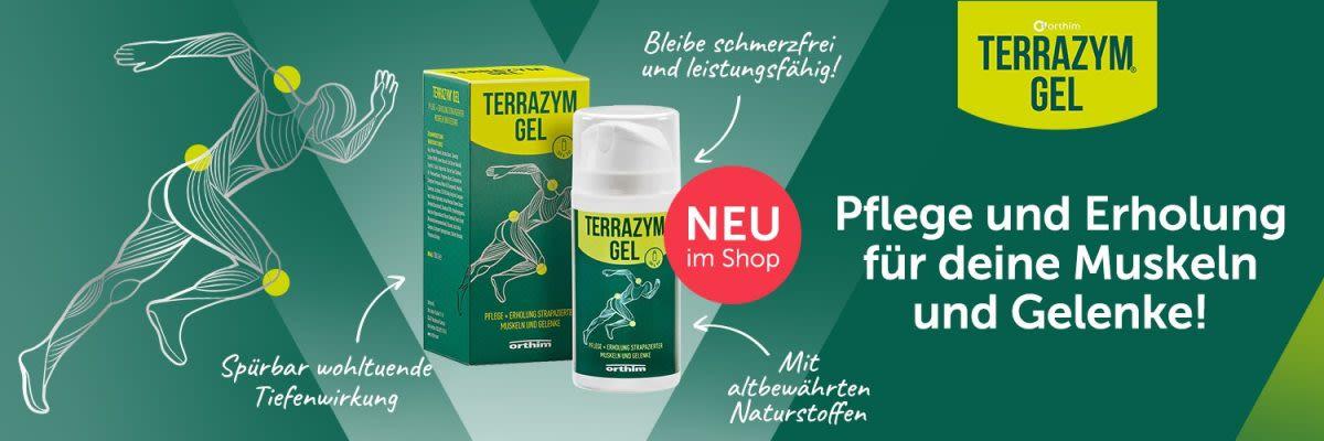 Orthim, Terrazym Gel. Pflege und Erholung für deine Muskeln und Gelenke!