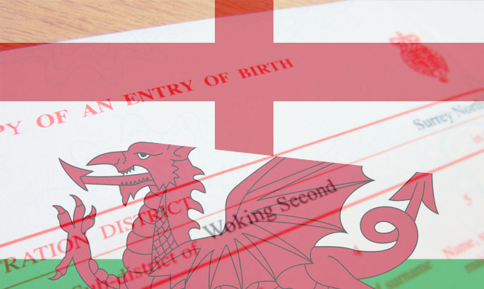 birth certificates england wales