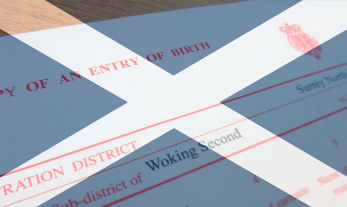 birth certificates scotland