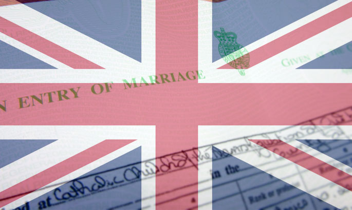 marriage certificates british overseas