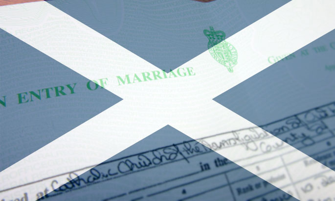 marriage certificates scotland