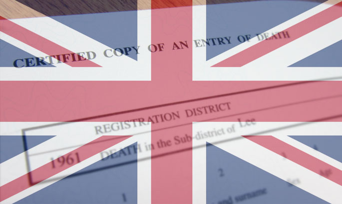 death certificates british overseas