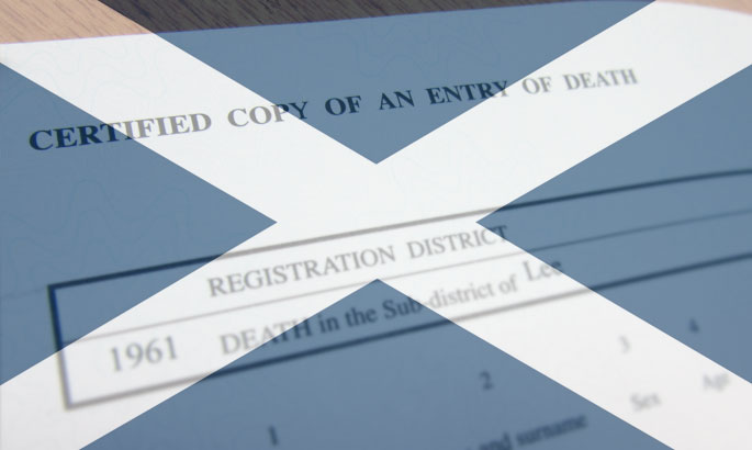 death certificates scotland