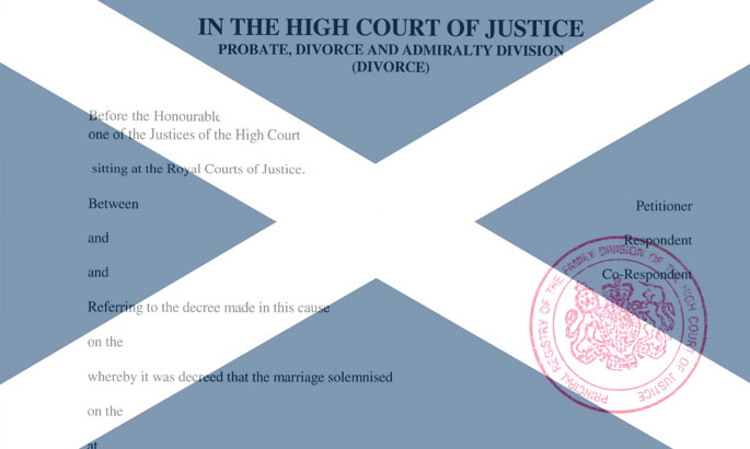 divorce decree absolute scotland