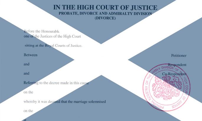 divorce decree absolute scotland