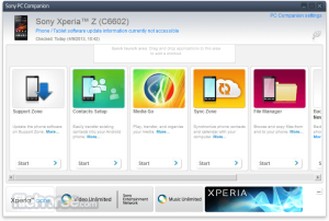 Sony Xperia - PC Companion