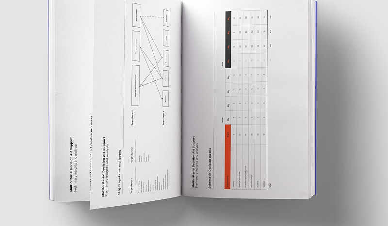 Book showing forumlas and decision flows.
