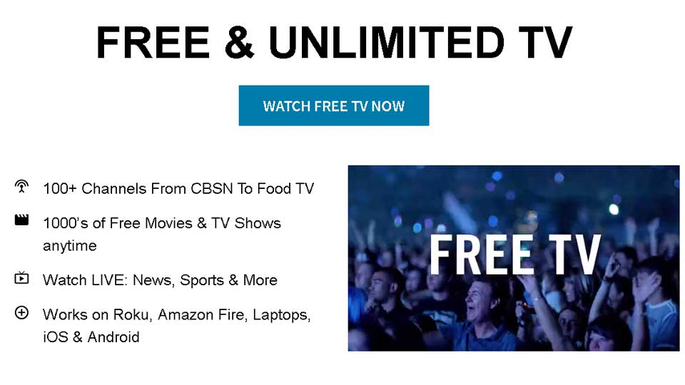 It's free tv with pluto.tv