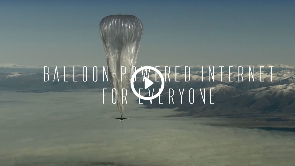floating balloons of internet