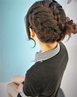 fishtail braided up do