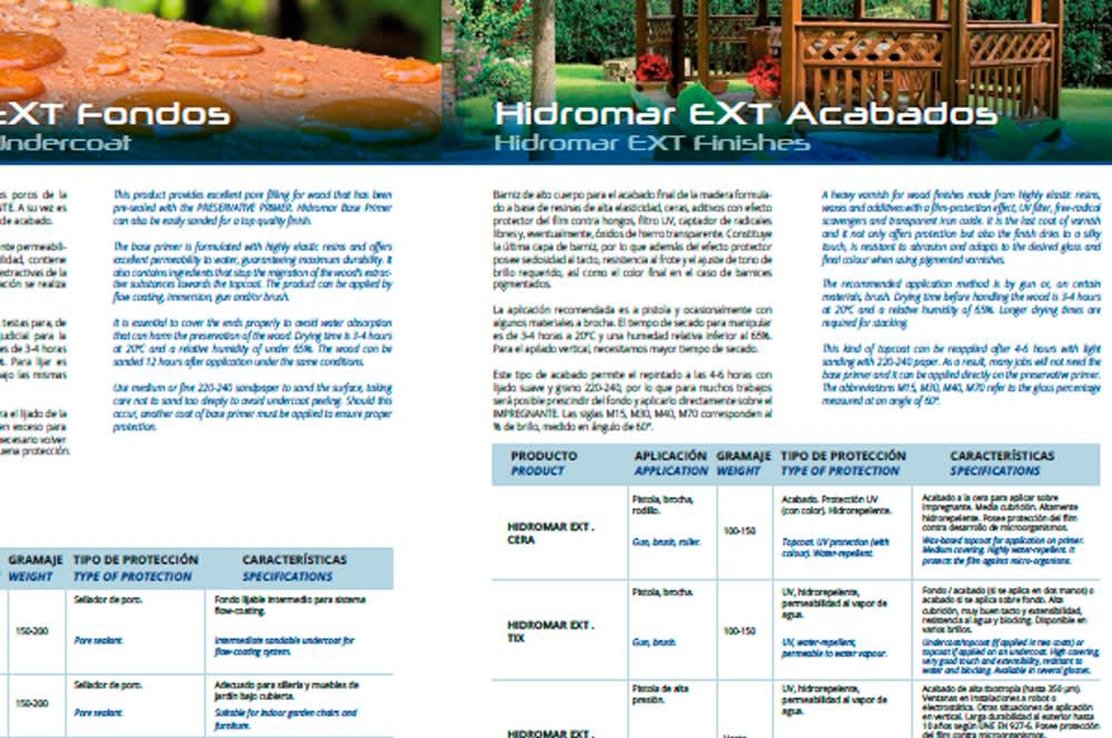 catalogo barnices al agua