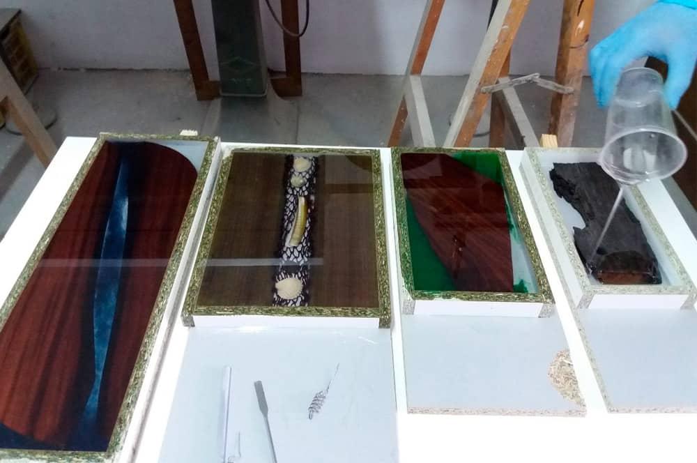 aplicaciones de resinas para decoración