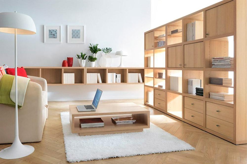 foto de mobiliario con barniz efecto poro abierto