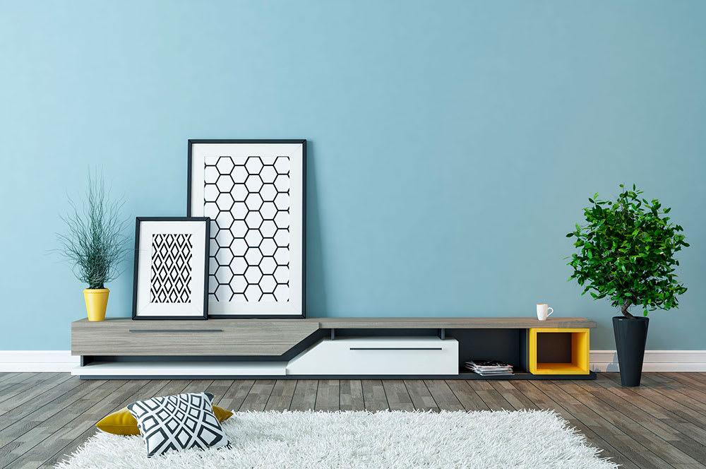 mobiliario con barnices uv