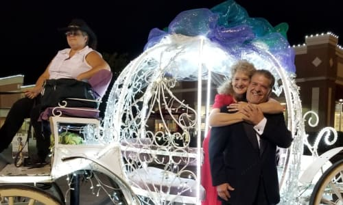 Couple Enjoying the Heritage Carriage Rides Romance Package