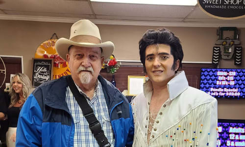 Pic with Elvis at Elvis the King -  A Tribute to Elvis