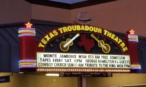 Texas Troubadour Theatre for Tribute to the King: Thru the Years 53-77