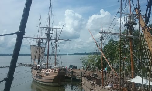 Old Ships at the Jamestown Settlement