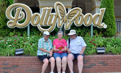 At the Entrance of Dollywood Theme Park Tennessee