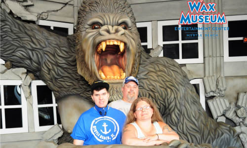 In Kong's Grasp at Hollywood Wax Museum Myrtle Beach