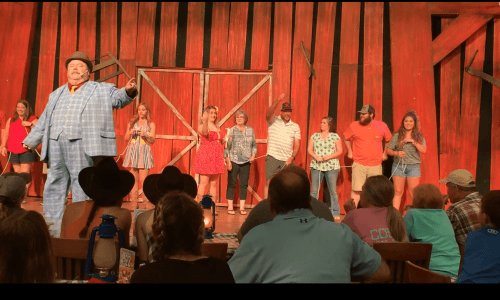 Guests on Stage at the Hatfield and McCoy Dinner Show