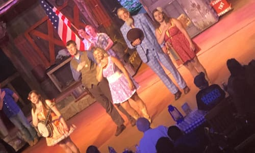 Patriotic Flag Salute at the Hatfield and McCoy Dinner Show