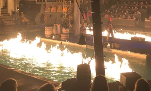 Fire on the Water at Pirates Voyage Dinner and Show Pigeon Forge