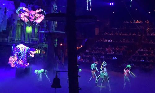 Skeletons at Pirates Voyage Dinner and Show Pigeon Forge