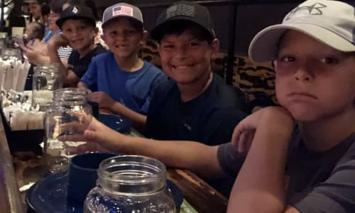 Young Boys at Pirates Voyage Dinner and Show Pigeon Forge