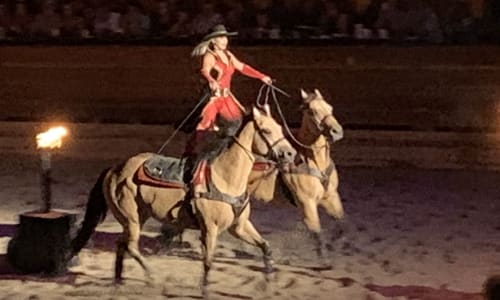 Incredible Riding at Dolly Parton's Stampede Dinner Show Pigeon Forge