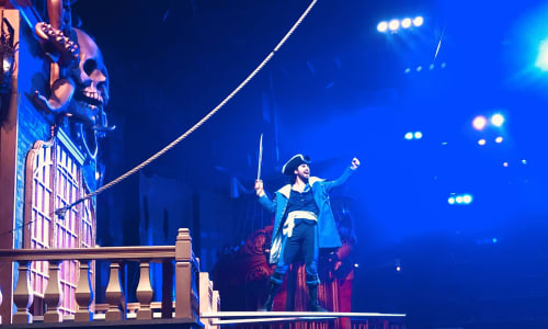 On the Plank at Pirates Voyage Dinner and Show Pigeon Forge