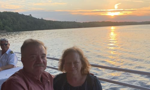 Couple on the Wisconsin Dells Sunset Dinner Cruise