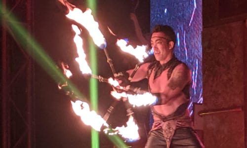 Fire Twirling at Le Grand Cirque Myrtle Beach