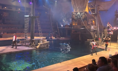 Watching Pirates Voyage Dinner and Show