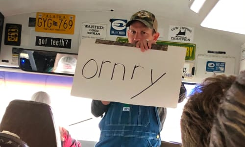 Ornry on the Redneck Comedy Bus Tour