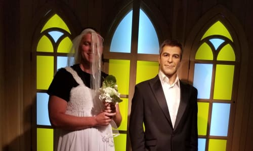 George Clooney at Hollywood Wax Museum