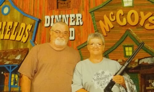 Couple at the Hatfield and McCoy Dinner Show