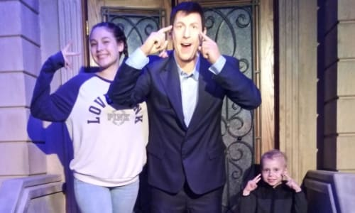 Adam Sandler at the Hollywood Wax Museum