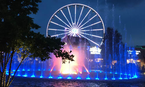 Beautiful Fountains at the Black Fox Lodge Pigeon Forge