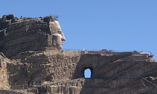 Side View of Mount Rushmore on the Mount Rushmore and Black Hills Tour
