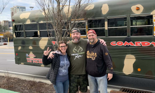 Group on the Redneck Comedy Bus Tour