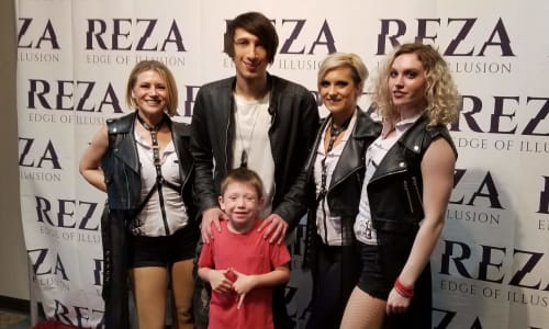 Young Boy with the Cast at Reza Edge of Illusion Magic Show