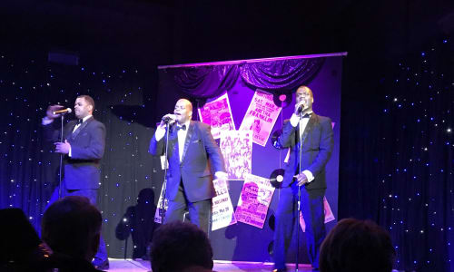 Trio Singing at Motor City Musical A Tribute to Motown