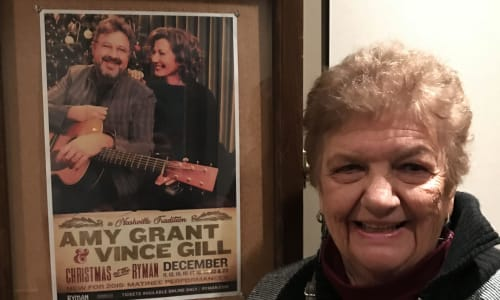 Amy Grand and Vince Gill at Grand Ole Opry