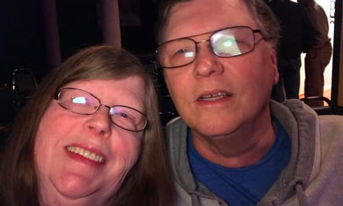Couple at Motor City Musical A Tribute to Motown