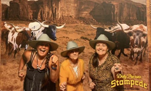 Running From the Bulls at Dolly Parton's Stampede Dinner Show Pigeon Forge