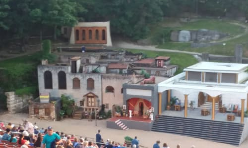 The Set at the Great Passion Play