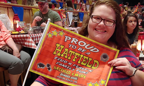 Hatfield Flag at the Hatfield and McCoy Dinner Show