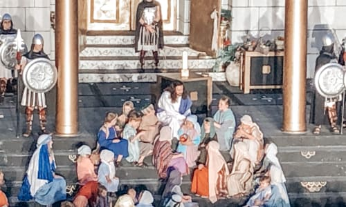 With Children at the Great Passion Play